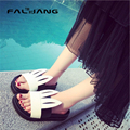 Designer Fashion 2016 Summer Girls Casual Comfort Slip On Slides Woman Rabbit Animal Sweet Flat Slipper Beach Sandals Shoes