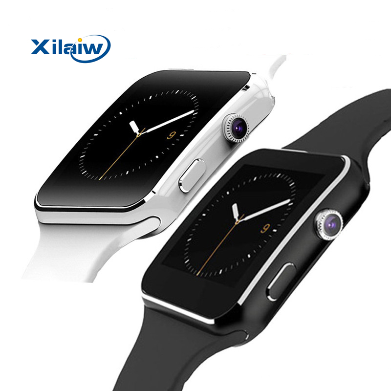 Bluetooth Smart Watch <font><b>X6</b></font> Smartwatch sport watch For iPhone Android <font><b>Phone</b></font> With Camera FM Support Whatsapp SIM <font><b>Card</b></font> wristwatch T30