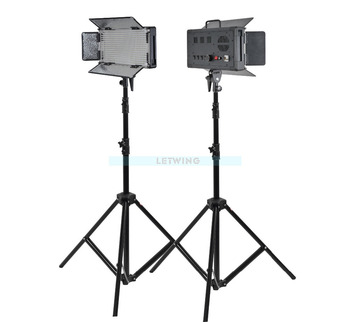 Godox 1000W 2X LED 500W Studio Video Continuous Light Kit For Camera Camcorder White Version