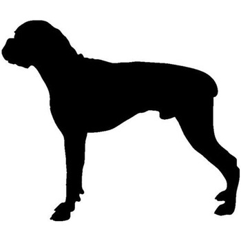 15*12.7CM Boxer Dog Vinyl Decal Reflective Car Stickers Car Styling Bumper Accessories Black/Silver S1-1170 image