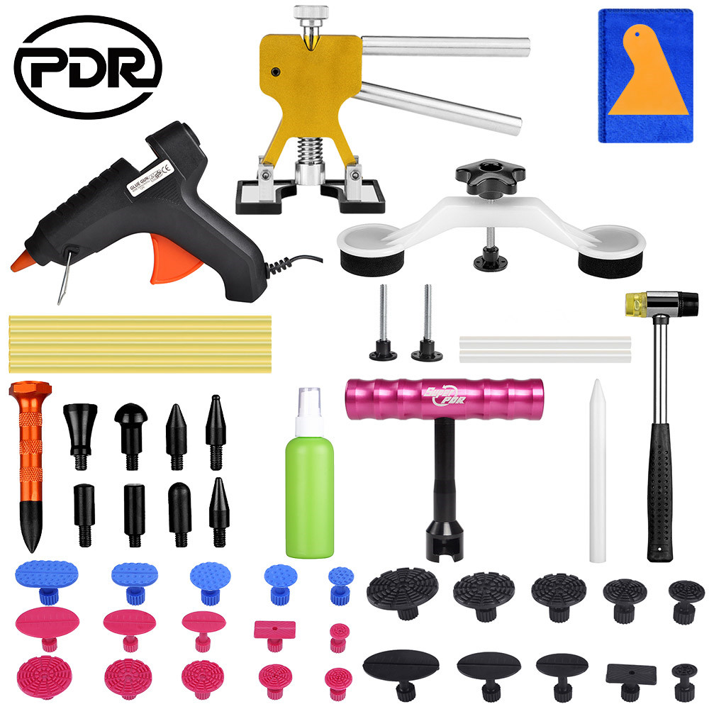 PDR Tools Paintless Dent Repair Tool Auto Dent Puller Suction Cup Car Body Dent Damage Repair Hand Tool Pulling Bridge Hammer