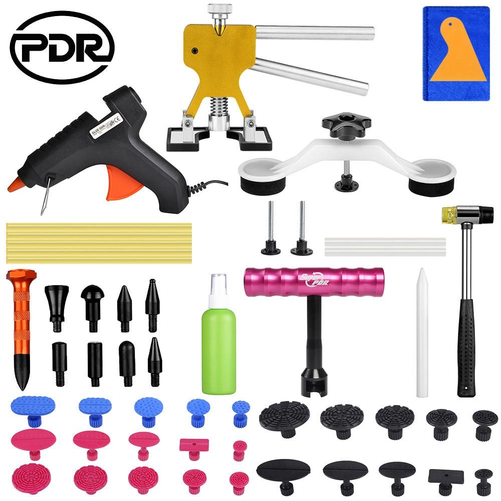 PDR Tools Paintless Dent Repair Tool Auto Dent Puller Suction Cup Car Body Dent Damage Repair Hand Tool Pulling Bridge Hammer