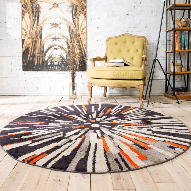 2017 New Nordic Fashion Trend Retro Abstract Large Round Carpet 120cm 160cm Diameter Rug For