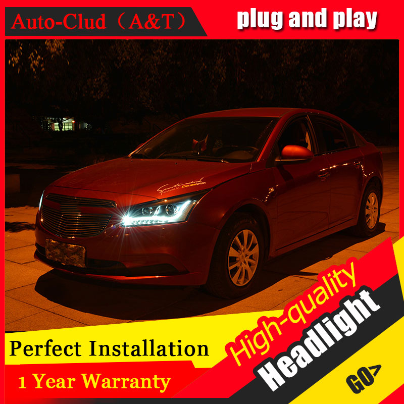 Auto Clud 2015 pour Chevrolet Cruze phares LED lumières barres bi xénon lentille H7 xénon phares voiture