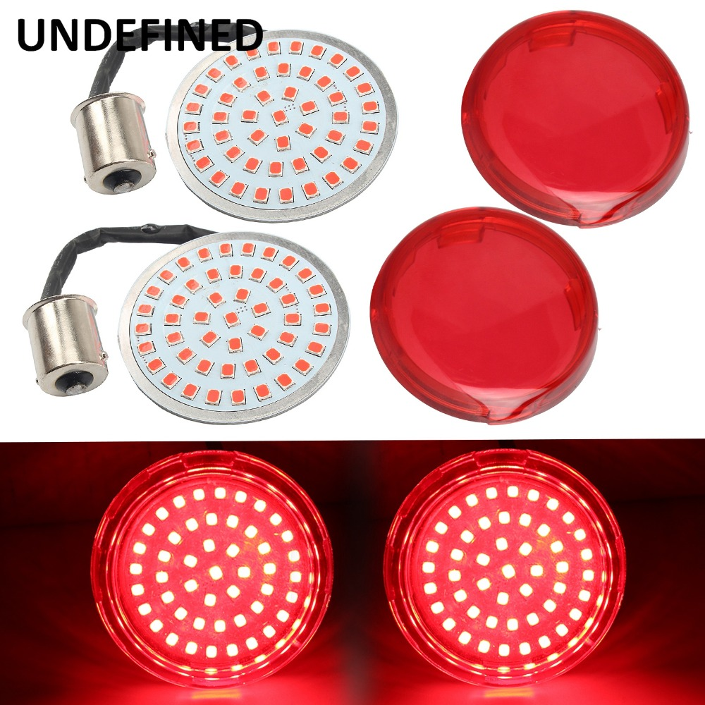 UNDEFINED New Motorcycle Lens Cover Bullet Style Turn Signal 1156 LED Inserts Lights For Harley Touring Sportster XL1200 DDD188