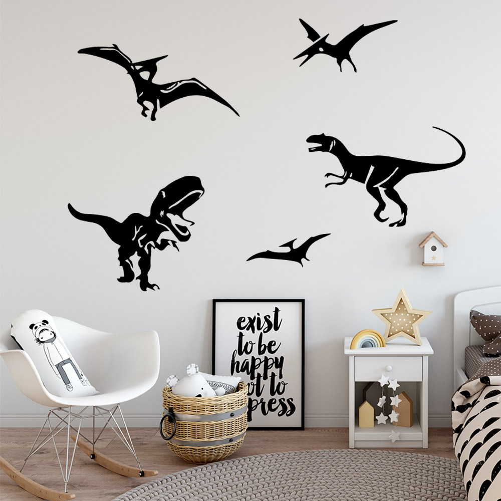 Cartoon Dinosaur Waterproof Wall Stickers Home Decor For Kitchen Restaurant Art Decal muursticker