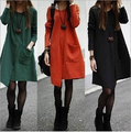Free shipping 3Colors Knitting Maternity Dress Autumn Clothes for Pregnant Women Plus Size Cotton Winter Clothing for Pregnancy