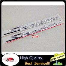 One Pair Left & Right Chrome 3D Gas Tank Decal Sticker Decals Emblem Badge For Honda Shadow Spirit Sabre Aero ACE VT750 New стоимость