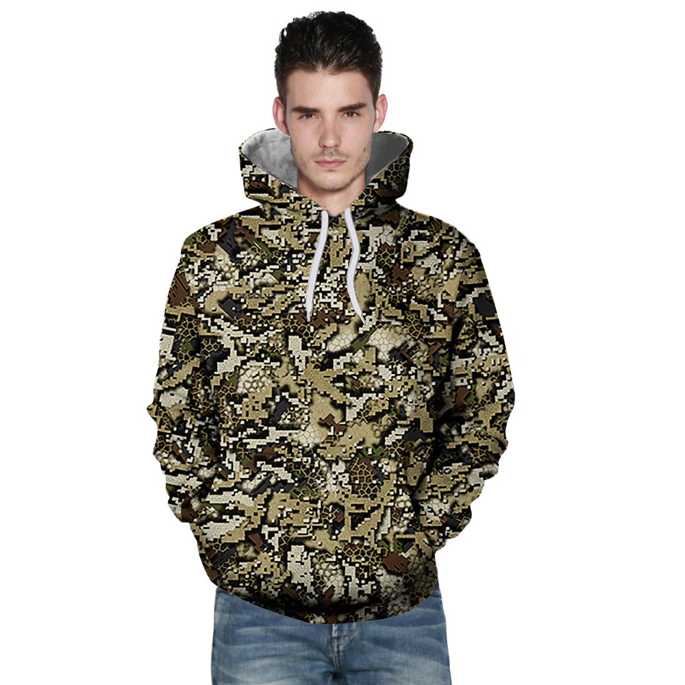 Hoodies Sweatshirts Outwear Long-Sleeve Printing Autumn Winter Fashion Men Tops