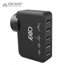 Qicent 5 порт 5V7. 8A39W мобильный телефон USB зарядное устройство для USB кабель PC iphone планшет с Sony Samsung Motorola Huawei