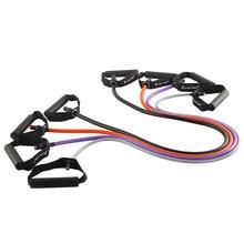 купить Set of 4 Latex Resistance Bands Workout Exercise Pilates Yoga Fitness Tubes Pull Rope дешево