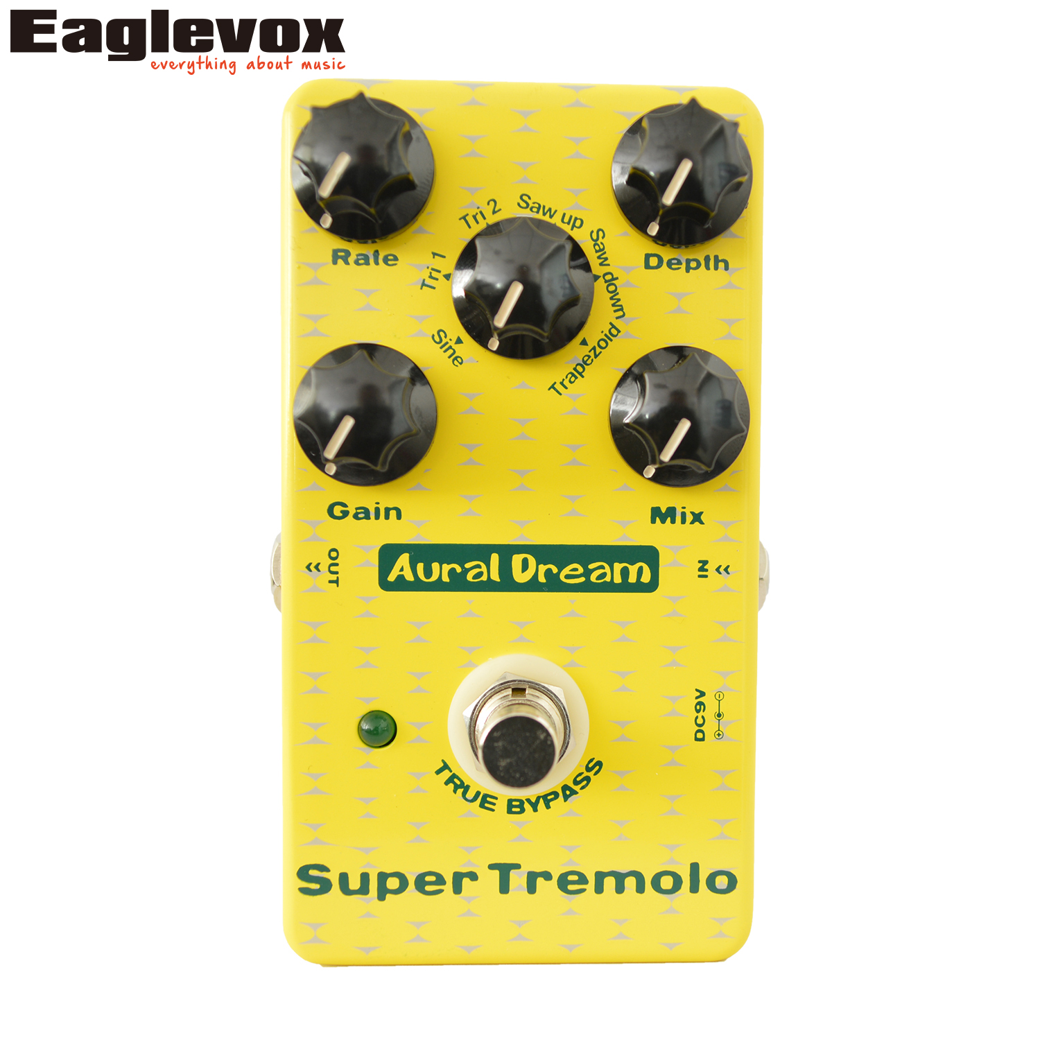 Aural Dream Super Tremolo Guitar Effect Padel Electronic Guitar Effects True Bypass mooer ensemble queen bass chorus effect pedal mini guitar effects true bypass with free connector and footswitch topper