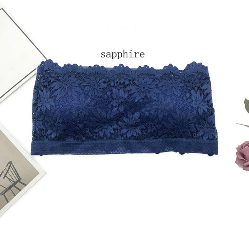 2019 Sexy Strapless Bra Womens Solid Lace Anti Light Padded Bra Crop Tops Beachwear Underwear Lingerie Intimates in Tube Tops from Underwear Sleepwears