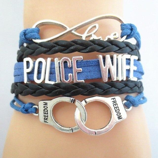 Hot Police Wife Bracelets Charm Love Souvenir Bangles