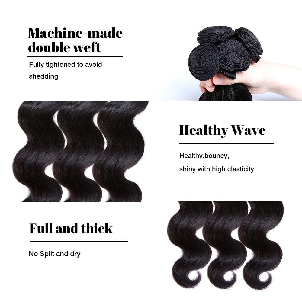 1000(2)  Ms Cat Hair Brazilian Physique Wave 1/three/four Bundles 100% Human Hair Brazilian Hair Weave Bundles Eight – 26 inch Non Remy Hair Extensions HTB1bCyVweGSBuNjSspbq6AiipXaV