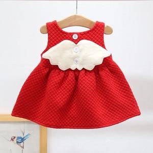 Image 1 - 아기 소녀를위한 크리스마스 복장 파티 공주 복장 가을 겨울 유아 어린이 결혼식 아기 소녀 복장 0 2 년
