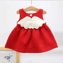 Christmas Dress for Baby Girls Party Princess Dress Autumn Winter Toddler kids Wedding Baby Girls clothes with Wing 0 2 Years