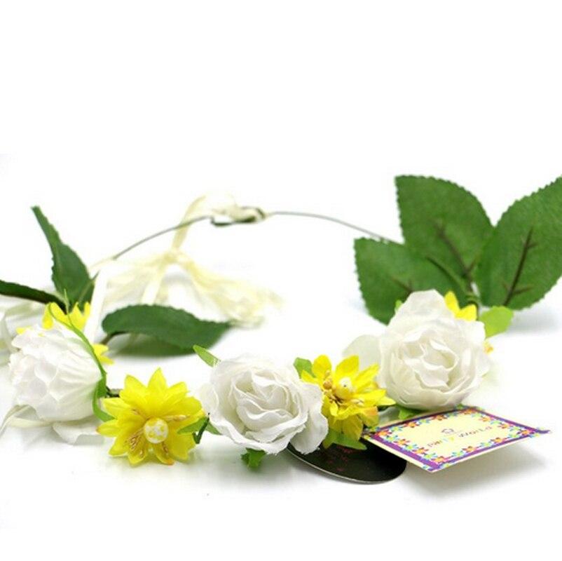 Wedding supply Flower Crown Headband Halo Head Wreath Floral Hair  Accessories hot sale 0414c8f0ce7