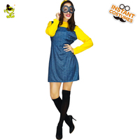 2018 Volwassen vrouwen Sexy Minions Kostuums met Bril Carnaval Party Hot Anime Karakter Funny Minions Meisje Cosplay Fancy Dress