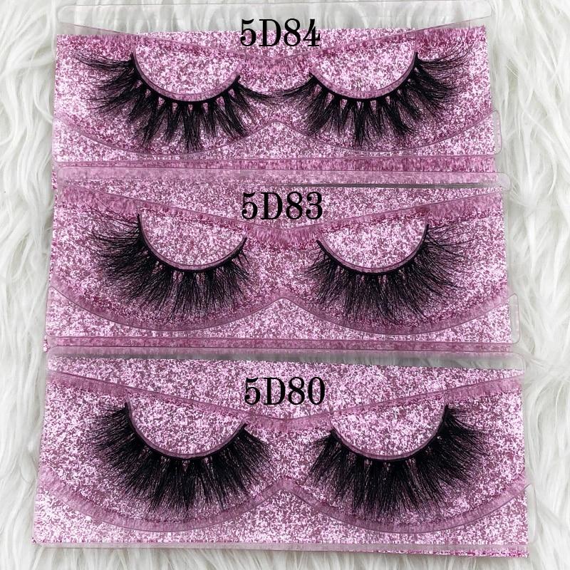 Mikiwi Thick Long 5D mink eyelashes long lasting mink lashes natural dramatic volume eyelashes extension 3d false eyelash(China)