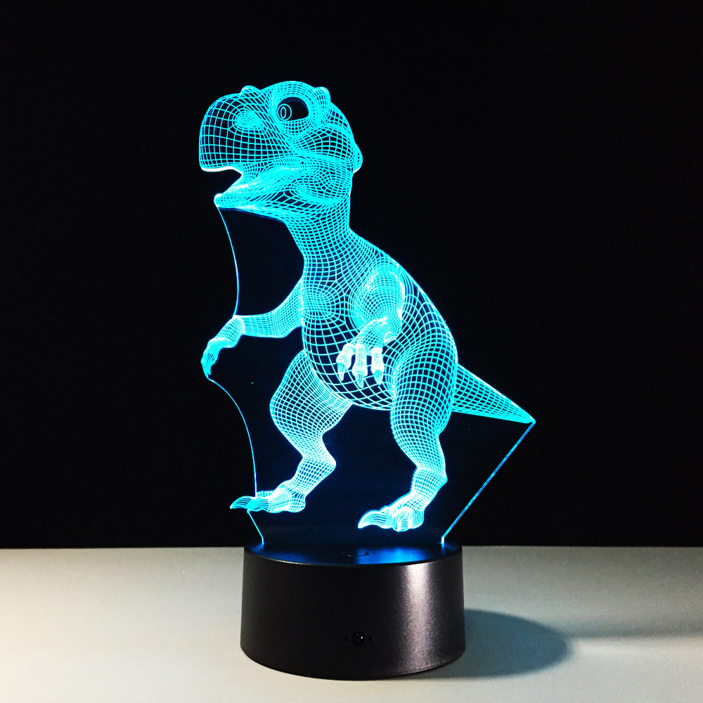 Dinosaur Led 3D Acrylic Night Light 2019 New Night Lamp Animals USB 7 Colors Changing Touch Switch Table Lamp Holiday Gifts