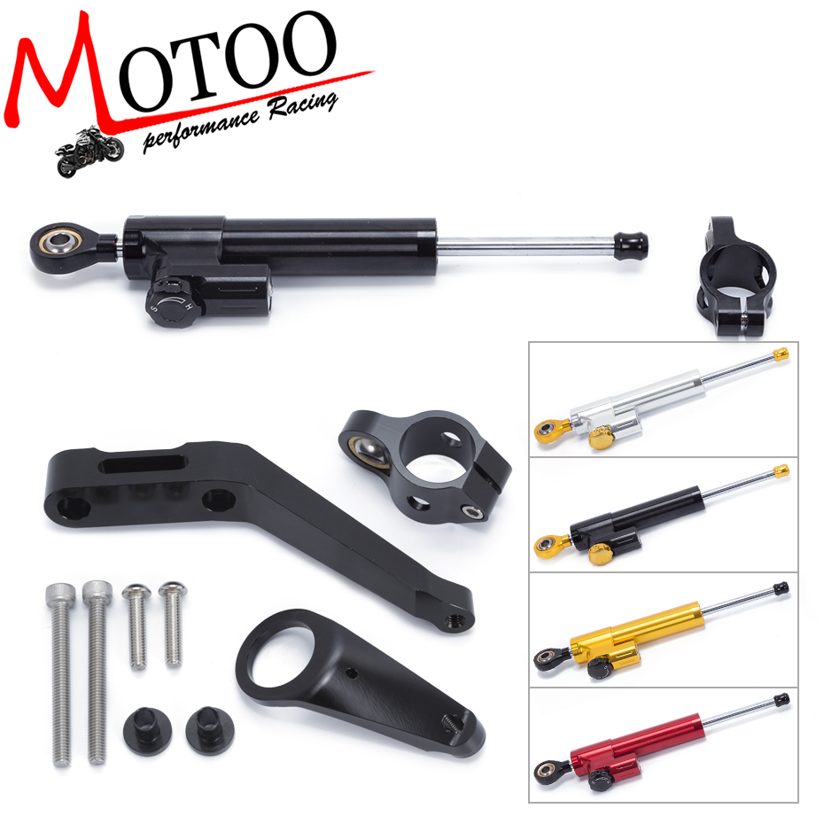 Motoo - FREE SHIPPING For Honda CBR954RR 2002-2003 Motorcycle Aluminium Steering Stabilizer Damper Mounting Bracket Kit free shipping for honda cb400 vtec 1999 2010 motorcycle aluminium steering stabilizer damper mounting bracket kit