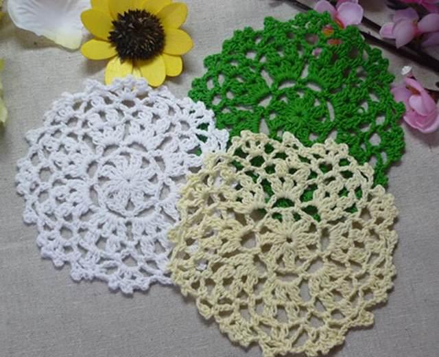 Tienda Online Encaje algodón Mat cocina Accesorios ronda crochet ...