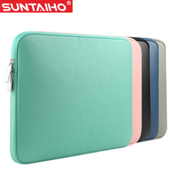 New pu leather waterproof laptop sleeve bag protective zipper notebook case computer cover for 11 13.jpg 250x250
