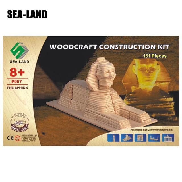 Jouets pour enfants En Bois 3D puzzle pour enfant Monde Miracle Le Sphinx Qualité Montessori Educationaly bricolage Jouet Comme Un Passe-Temps Famille Cadeau