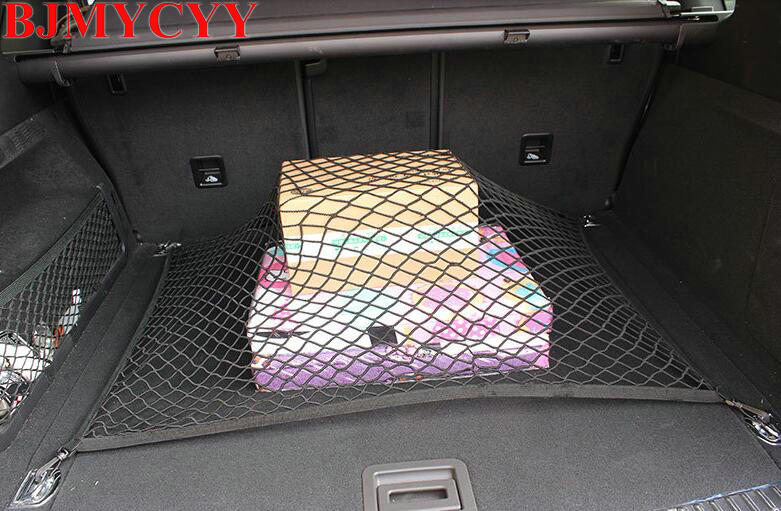 BJMYCYY 2017 Car styling Car boot Trunk net For Mitsubishi outlander 2016 lancer 10 9 pajero asx l200 pajero sport accessories yuzhe linen car seat cover for mitsubishi lancer outlander pajero eclipse zinger verada asx i200 car accessories styling cushion