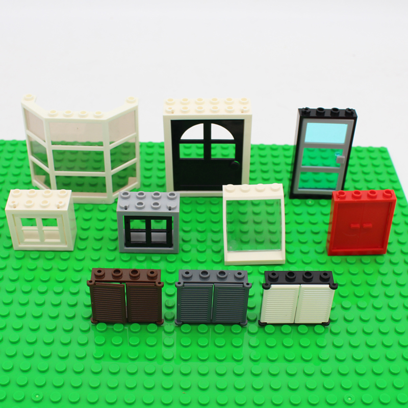 Free Shipping!moc  DIY building   enlighten block bricks Compatible With Assembles Particles my city  window door free shipping manor 3 diy enlighten block bricks compatible with other assembles particles