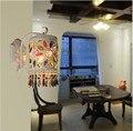 Бесплатная доставка D130mm H320mm современный красочный дом Тиффани кристалл настенный светильник цвет белый закусочный свет бар/кафе свет AC90-265V