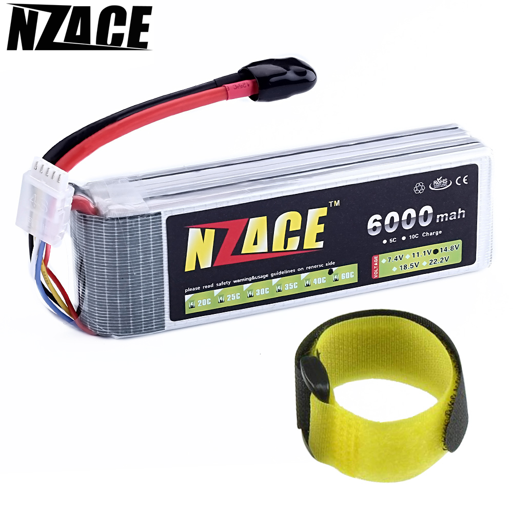 NZACE POWER Wholesale Price 14.8V 6000mah 60C Max 120C Toys & Hobbies For Helicopters RC Models rc car Li-polymer Battery 6v 1600mah vb power receiver battery for rc car model plane wholesale price dropship freeshipping
