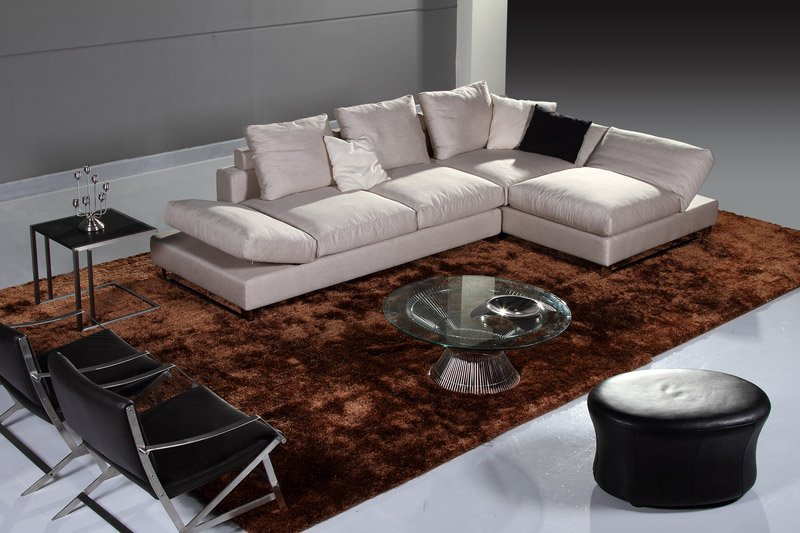 Modern Furniture / Living Room Fabric/ Bond Leather Sofa/ Sectional /  Corner Sofa(