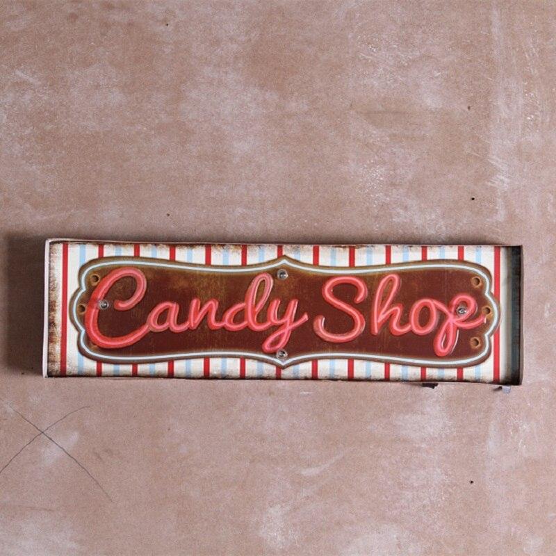 ᓂVintage LED Neon Sign Vintage Home Decor Metal Signs Beer Cerveja Beauteous Home Decor Signs Shabby Chic