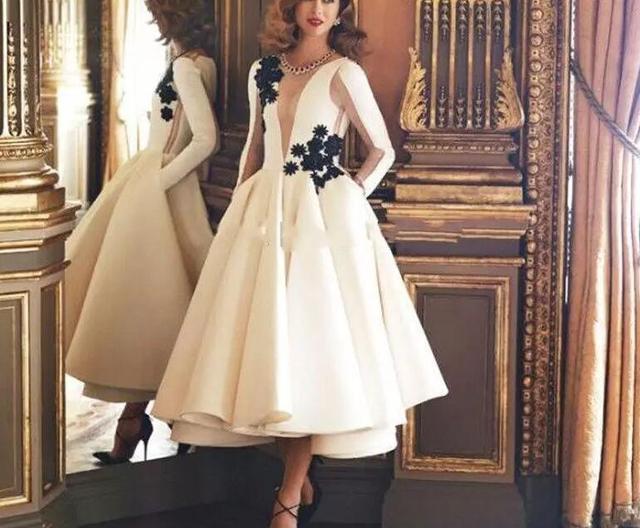 Vestido longo Couture Fashion Blanco de Té de Longitud vestido de ...