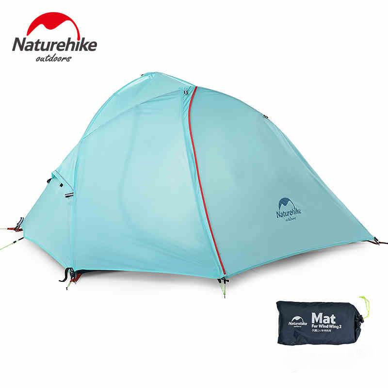 Authentic 1-2Person 20D Silicone Coating Waterproof Double Layer Outdoor Tent Aluminum Rod Ultralight Single Tents PU5000mm1.3KG
