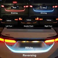 Lumière de bande de coffre de LED de clignotant jaune de style de voiture d'okeen pour le coffre de queue de voiture LED le flash de bande de hayon suivent lumière LED