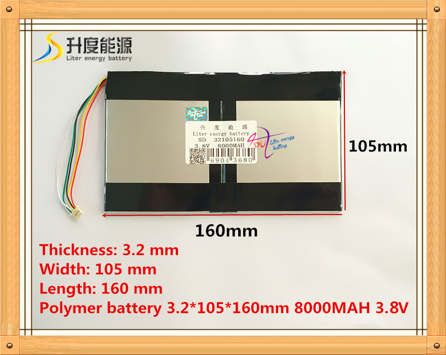 5P2. 0 Die tablette batterie 3,8 V 8000 mAH 32105160 Polymer lithium-ionen/Li-Ion akku für tablet pc batterie