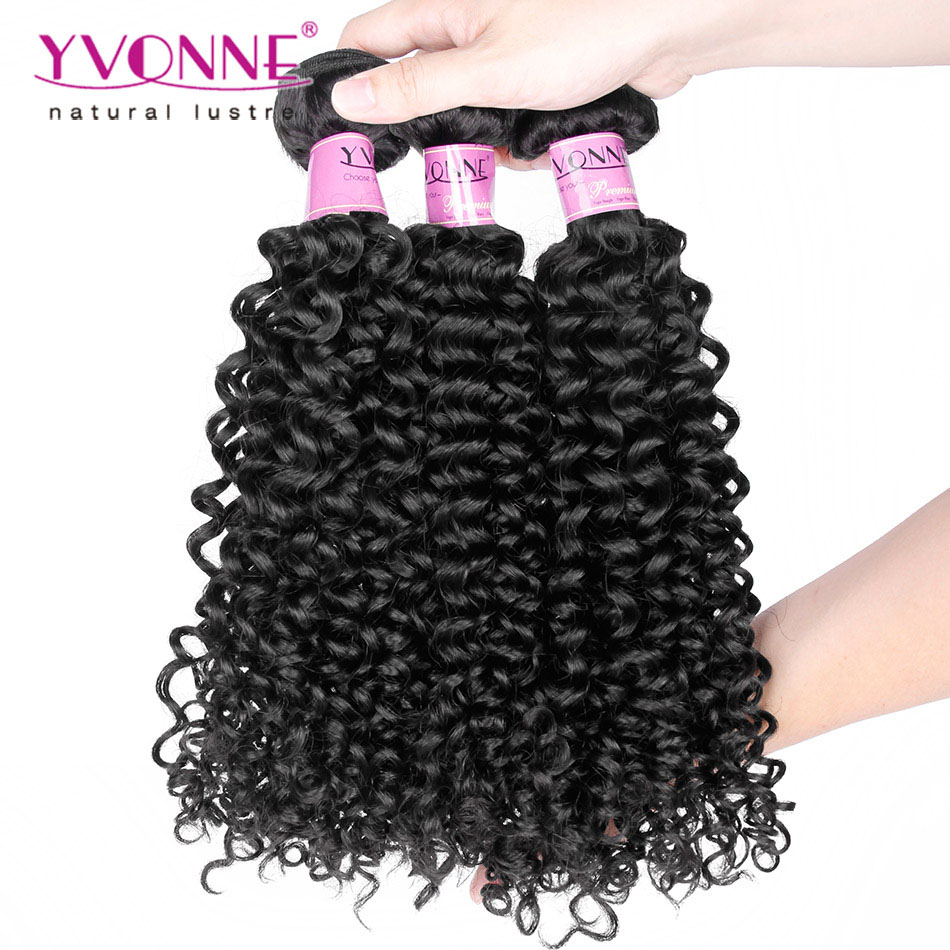 Grade 7A Brazilian Virgin Hair Malaysian Curly Hair, 3Pcs/lot Human Hair Weave, Aliexpress YVONNE 7A Unprocessed Virgin Hair