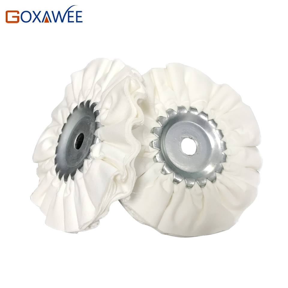 Goxawee 2pcs 4 Quot Grinding Wheels White Cotton Buffing