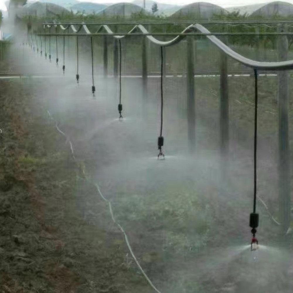 5 Head Micro Watering Irrigation System Fog Drop Cooling Nozzle Garden Greenhouse Adjustable Spray Nozzle