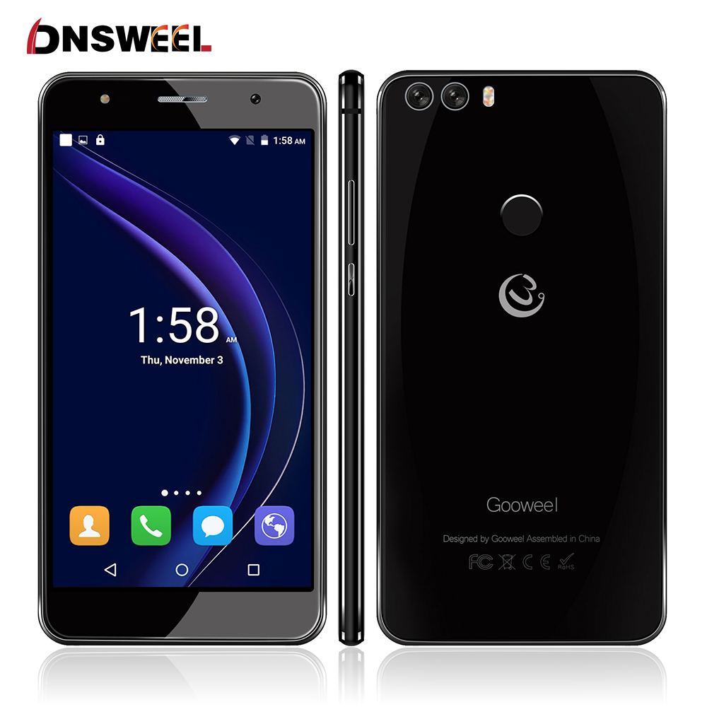 Gooweel M8 Smartphone Fingerprint ID Dual 2 5D Glass 5 5 inch HD IPS screen MTK6580