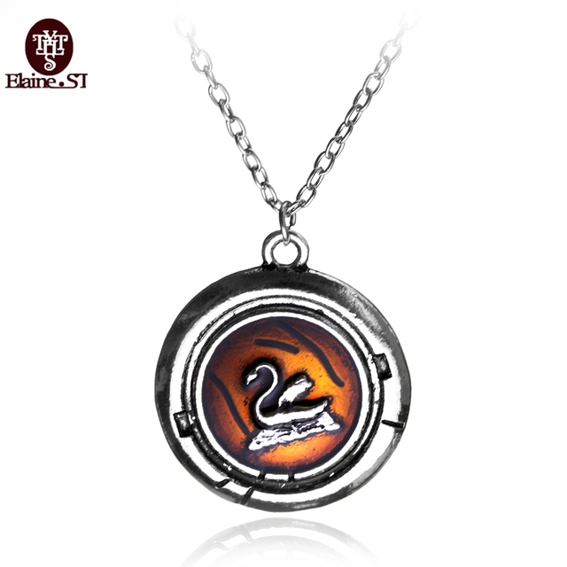 Snow White Once Upon A Time Emma Swan Talisman Antique Silver Pendant Necklace Oh61BmtcL