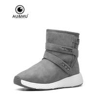 2017 AUMU Australia Womens Ankle Short Zipper Winter Snow Boots UG NY085