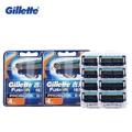 Original Gillette Fusion Razor Shaving Blade brands Safety razor blade shave shaver shaving blades for men   8pcs
