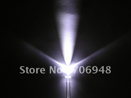Pack of 1000, 5mm Cool White LEDs, Ultra Bright LED,rohs compliance ,long life,save energy
