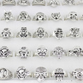 25pcs Skull Skeleton Gothic Alloy Rings Punk style rings for mens womens Wholesale Jewelry lots