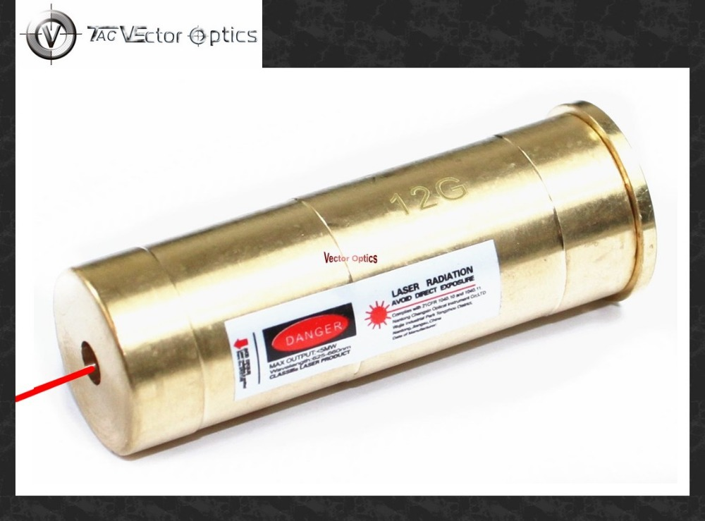 ⑦Vector óptica 12 gauge cartucho láser rojo bore sighter para Saiga ...