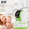 BW Câmera de Segurança IP Sem Fio Wi-fi P2P HD 720 P Pan 120'Tilt 355'Two Áudio Bidirecional IR-Cut Alarme Automático Câmera de vigilância CCTV